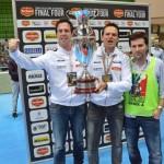 Vittoria Coppa Italia A2 2013/14 (da sx a dx): Marco Gianesello, Alberto Sanavia, Mauro Pastorello.