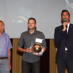 """(da sx a dx) Carlo Gobbi, Alberto Sanavia e Alessandro Antinelli. """"Premio Stracca"""" miglior ufficio stampa di Superlega 2016/17"""