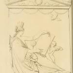 Disegno preparatorio della stele Giustiniani