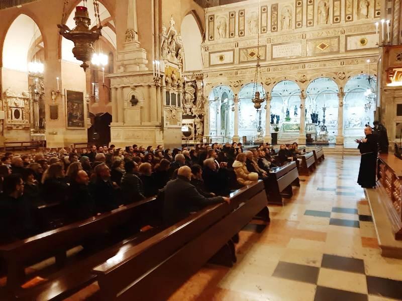 La Kioene Padova in visita alla basilica di Sant'Antonio